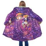 Purple Mushroom Hooded Coat 3915