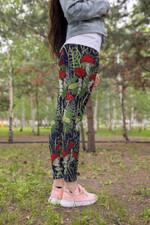 Forest Mushroom Red Leggings 3916