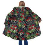 Forest Mushroom Red Hooded Coat 3916