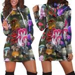 Beautiful Forest Mushroom Hoodie Dress 3912