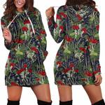 Forest Mushroom Red Hoodie Dress 3916
