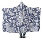 Forest Mushroom Hooded Blanket 3908