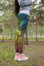 Full Color Forest Mushroom Leggings 3906