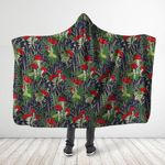 Forest Mushroom Red Hooded Blanket 3916