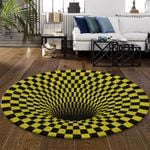 Ligerking™ Rug Geometric 3D Yellow HD03460