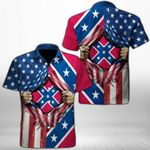 Ligerking™ Confederate Flag Shirt Short Sleeve HD03529