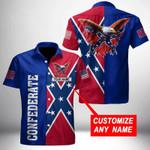 Ligerking™ Confederate Flag Shirt Short Sleeve HD03532