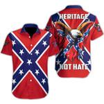 Ligerking™ Confederate Flag Short Sleeve Shirt  HD03525