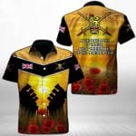 Ligerking™ Anzac Day Poppy Lest We Forget Short Sleeve Shirt HD03555