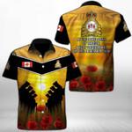 Ligerking™ Anzac Day Poppy Lest We Forget Short Sleeve Shirt HD03559