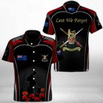 Ligerking™ Anzac Day Poppy Lest We Forget Short Sleeve Shirt HD03560