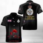 Ligerking™ Anzac Day Poppy Lest We Forget Short Sleeve Shirt HD03561