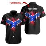 Ligerking™ Confederate Flag Short Sleeve Shirt  HD03574