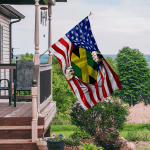 Ligerking™ Jamaica And America Flag HD03627