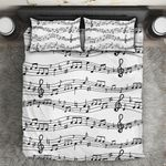 Ligerking™ Music Note Printed Bedding Set HD04007