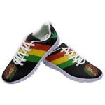 Ligerking™ Jamaica Rastafari Flag Sneaker White HD03766