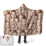 Ligerking™ Custom Face Seamless Photo Hooded Blanket HD06005