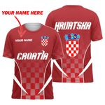 Croatia Active T-shirt Personalized Name Version HD02261