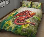 Wales Quilt Bedding Set - Dragon With Flowers HD02373