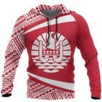 Ligerking™ French Polynesia Hoodie - Circle Red HD02044