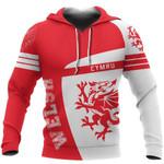 Wales Sport Red Hoodie - Premium Style HD02002