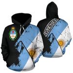 Ligerking™ Argentina Special Grunge Flag Pullover Hoodie HD01854