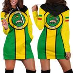 Jamaica Hoodie Dress, Jamaica Rasta Rising Flag HD02217