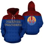 Ligerking™French Polynesia All Over Hoodie HD01986