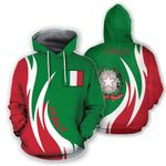 Ligerking™ Italy Hoodie Coat Of Arms Fire Style HD01958