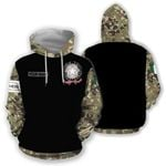 Customize Italy Coat Of Arms Skull Camo All Over Print Hoodie HD02068