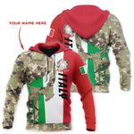 Customize Italy Coat Of Arms Skull Camo All Over Print Hoodie HD02067