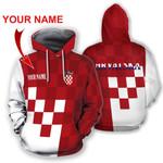 Croatia Coat Of Arms Hoodie Personalized Name Version HD02264