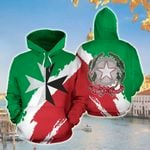 Ligerking™ Italia Maltese Cross All Over Print Hoodies HD02144