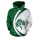 Ireland Shamrock Celtic Hoodie White - Circle Style HD01872