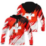 Ligerking™ Switzerland Flag Color Painting Hoodie DQH0054