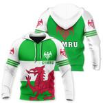 Wales Flag Hoodie Triple Style HD01997