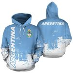 Ligerking™ Argentina All Over Hoodie - Smudge Style HD01824