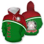 Ligerking™ Italy Curve Version All Over Print Hoodies HD02142