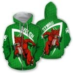 Wales Hoodie - Welsh Dragon Rugby Champion HD02116