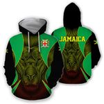 Jamaica All Over Hoodie - Lion Coat Of Arms HD02111