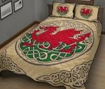 Wales Quilt Bedding Set - Welsh Dragon Quilt Bed HD02364