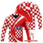 Croatia Flag All Over Hoodie - Circle Style Personalized Name Version HD02259