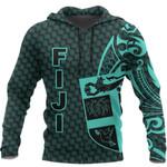 Ligerking™ Fiji Hoodie Turquoise - Emboss Style HD01792