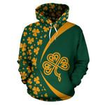 Ireland Shamrock Pattern Hoodie - Circle Style HD01871