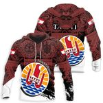 Ligerking™ French Polynesian All Over Hoodie HD01983