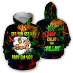 Ligerking™ 420 Hoodie Eff You See Kay 3D all over print HD01189