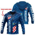Croatia - Hrvatska Air Hoodie Blue Personalized Name Version HD02258