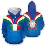 Ligerking™ Italy Rugby Hoodie HD01959