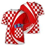 Croatia Flag All Over T-shirt - Circle Style HD02259