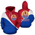 Ligerking™ Tahiti French Polynesia All Over Hoodie - Split Style 2.0 HD02050